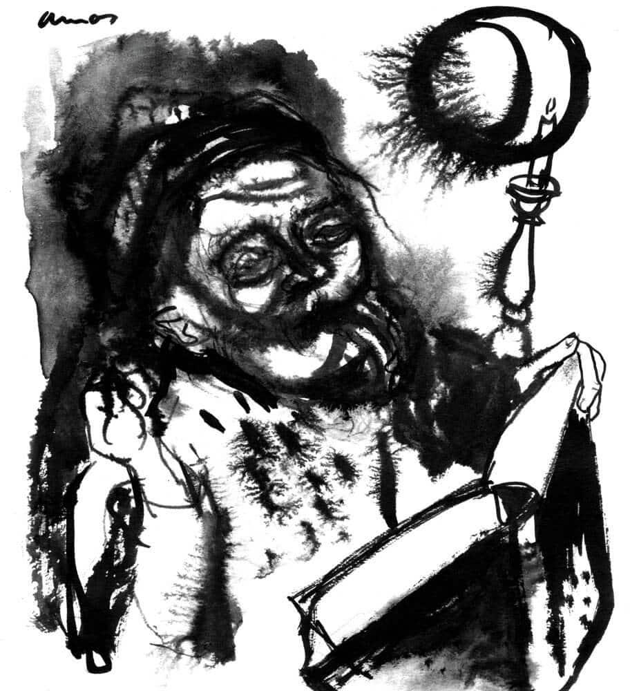 Ámos Imre rajza
