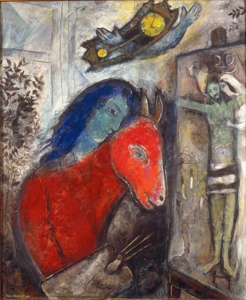 Marc Chagall: Önarckép órával