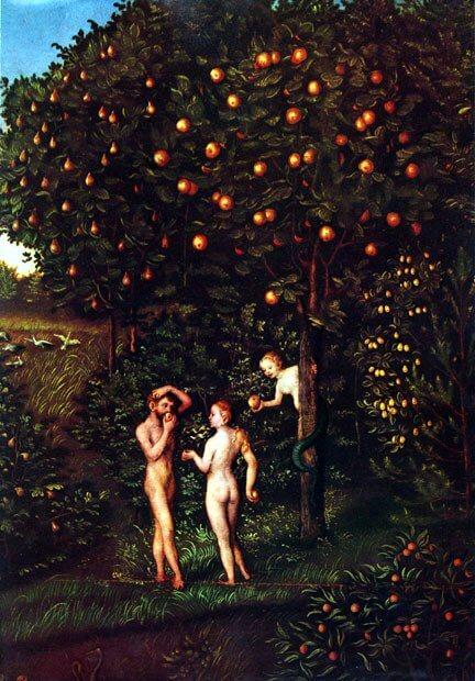 id. Lucas Cranach: Paradicsom (részlet, 1530)