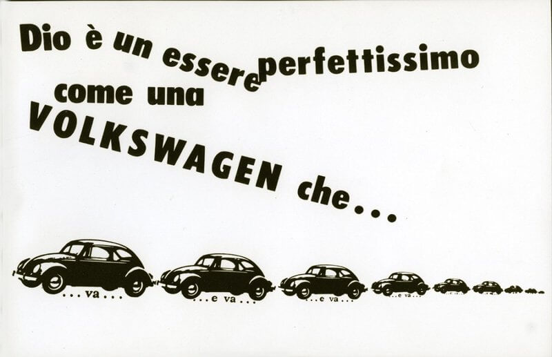 Isten tökéletes lény, akárcsak a Volkswagen, 1964