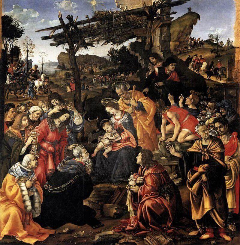 Filippino Lippi: A Háromkirályok imádása