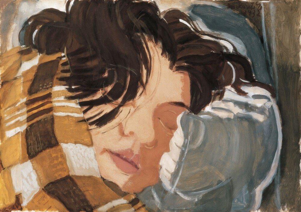 Derkovits Gyula: Alvó nő