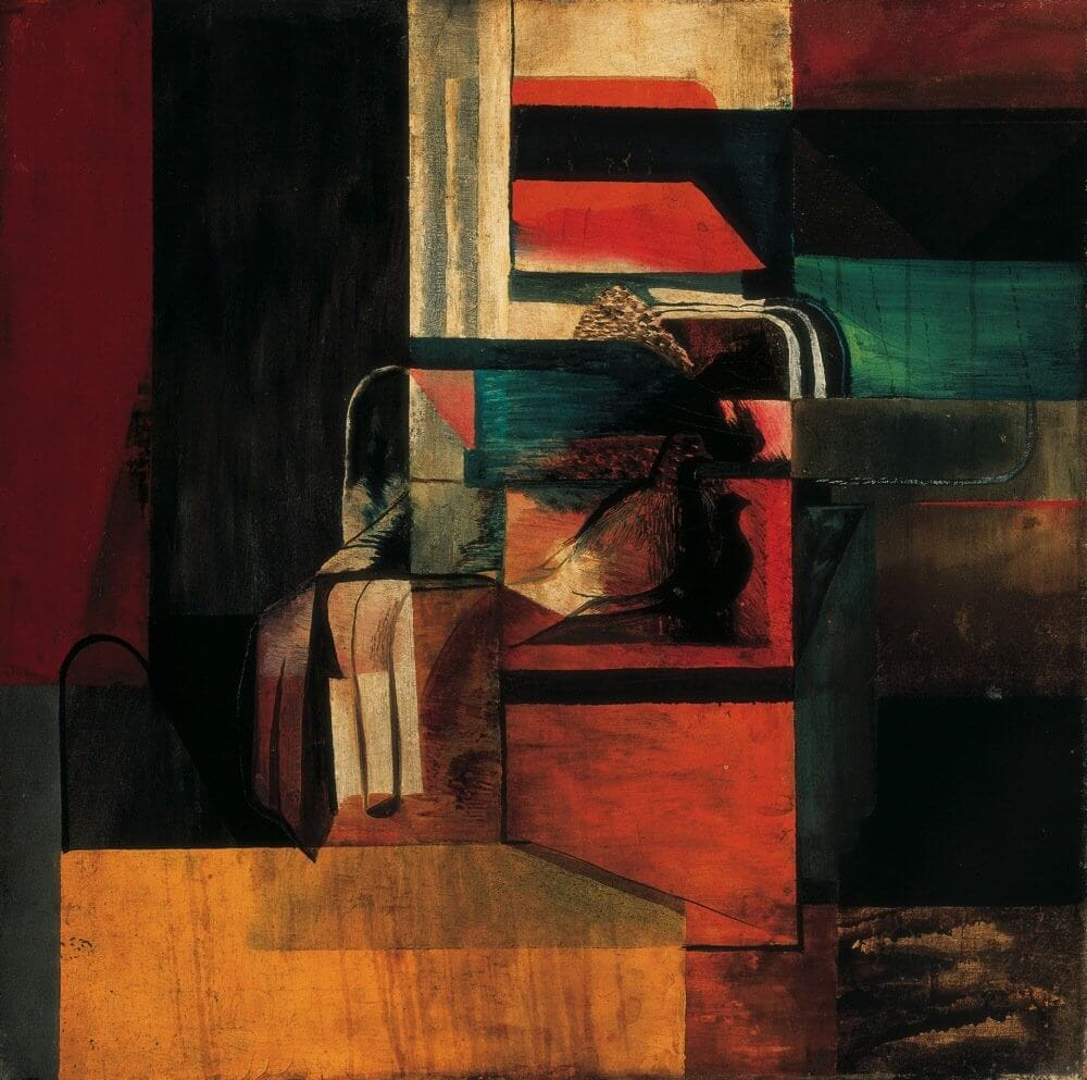 Schubert Ernő: Kompozíció galambbal