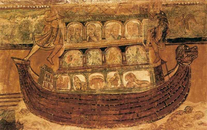 Freskó a Saint Savin apátságban