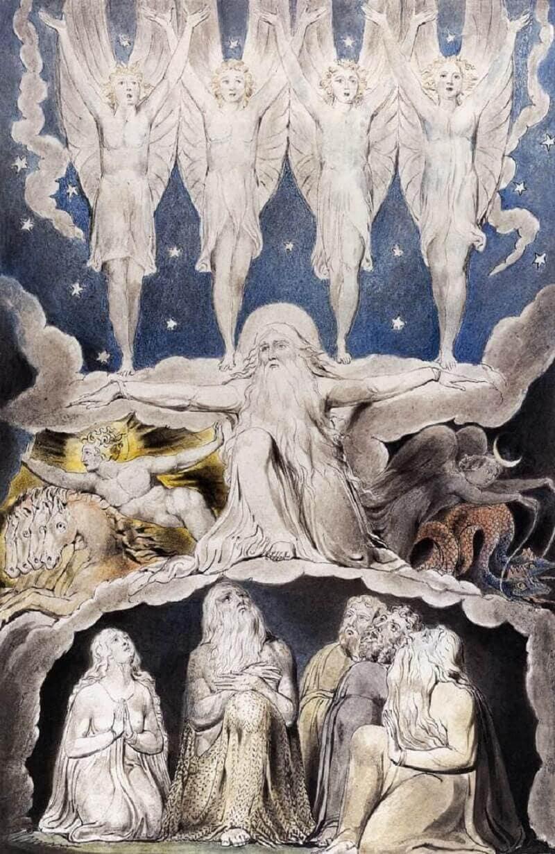 William Blake: Jób könyve, commons.wikimedia.org