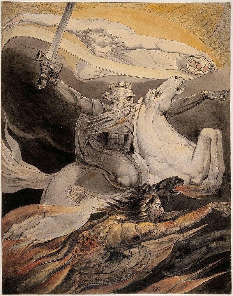 William Blake: A halál sápadt lovon, commons.wikimedia.org