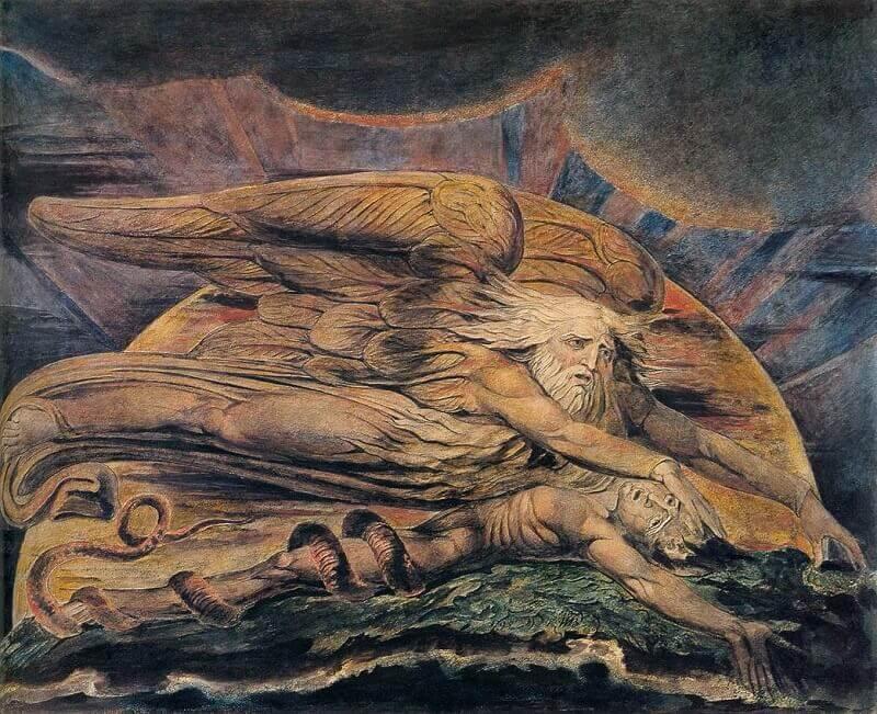 William Blake: Elohim megteremti Ádámot, commons.wikimedia.org