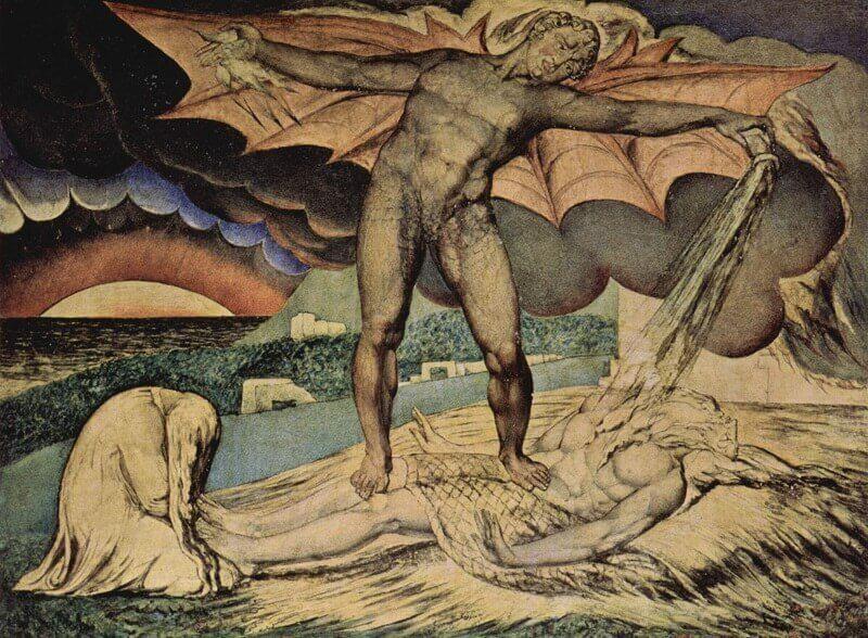 William Blake: A Sátán megkísérti Jóbot, commons.wikimedia.org