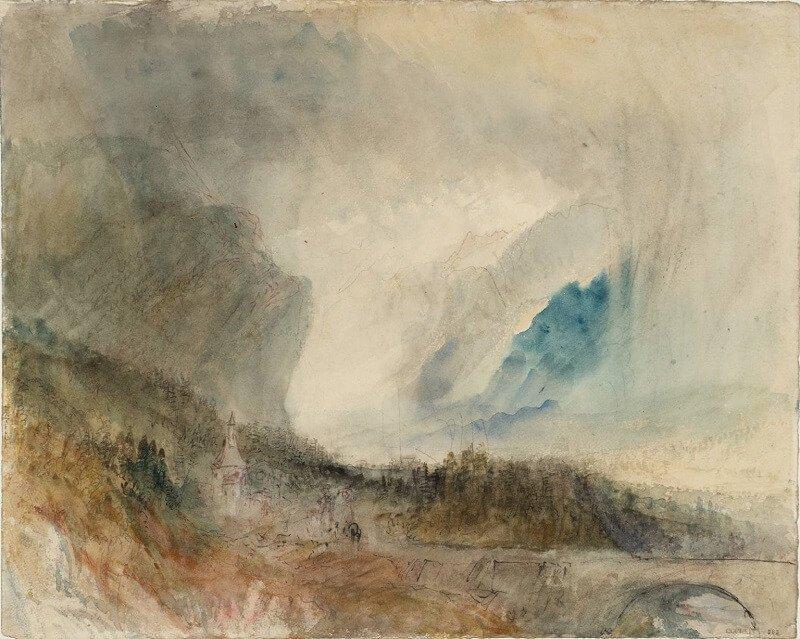 Joseph Mallord William Turner: Vihar a Szent Gotthárd-szoros felett, tate.org.uk