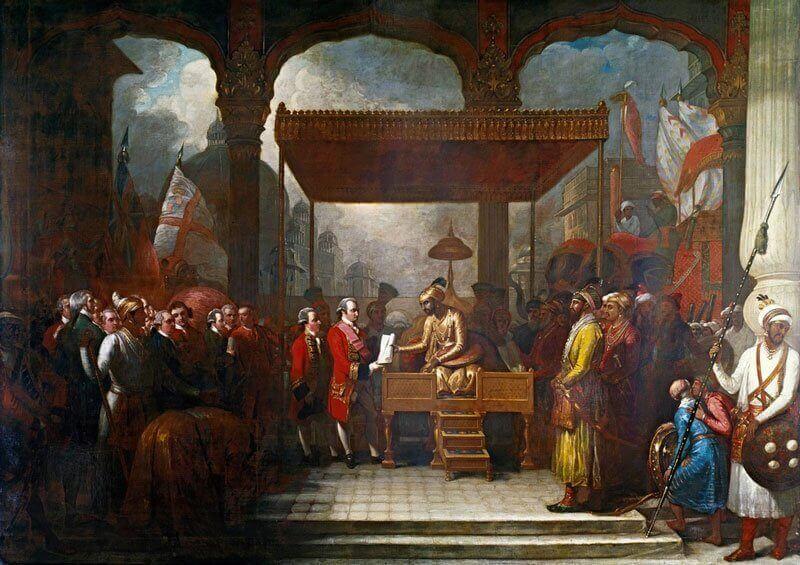A Mogul Birodalom uralkodója átadja Robert Clive-nak, Bengál kormányzójának a jogokat, hogy Bengálban, Biharban és Orissában az adókat a Kelet-Indidi Társaság gyűjtse be, i.gium.co.uk
