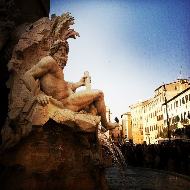 Giovanni Lorenzo Bernini: A négy folyam kútja, Piazza Navona, Róma, Nick Kenrick, flickr.com