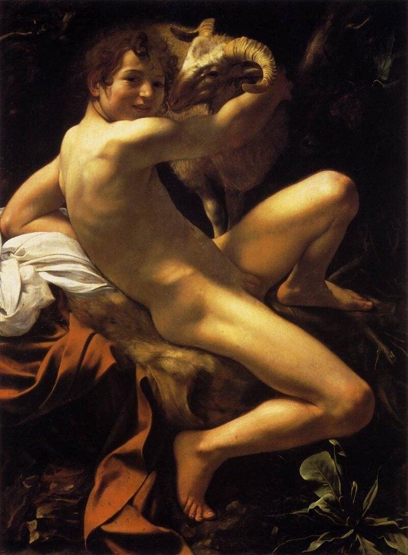 Caravaggio: Keresztelő Szent János, commons.wikimedia.org