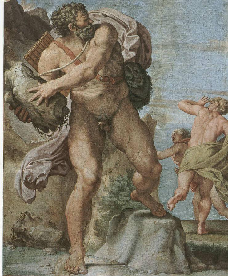 "Annibale Carracci: ""Féltékeny"" Polüphóbosz, Galleria Farnese, wikipedia.org"