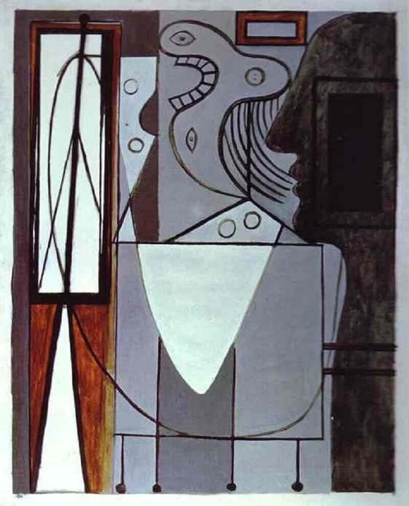 Pablo Picasso: Picasso sziluettje és fiatal síró lány, pablo-ruiz-picasso.net
