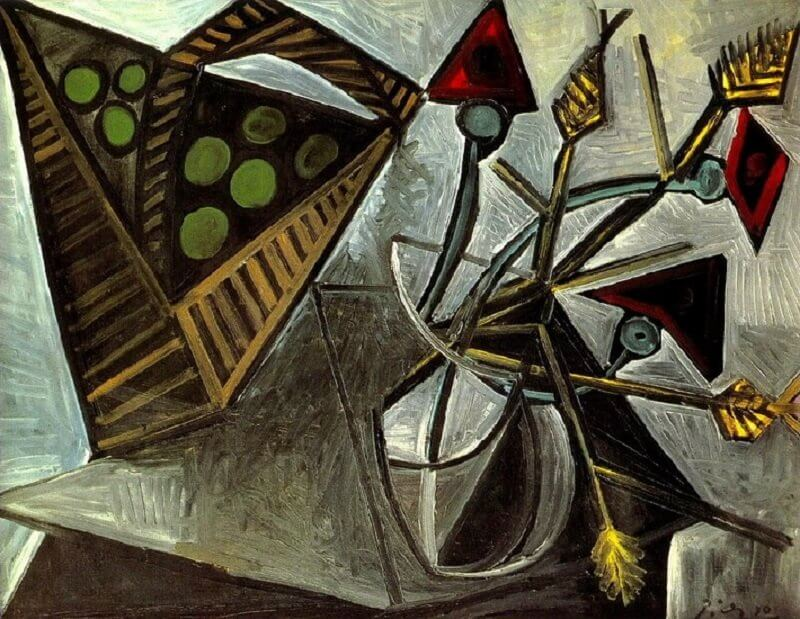 Pablo Picasso: Csendélet gyümölcskosárral, pablo-ruiz-picasso.net