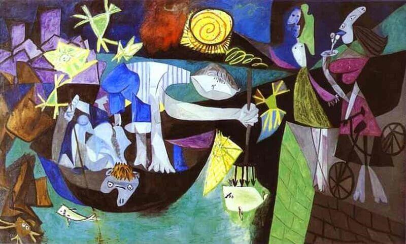 Pablo Picasso: Éjjeli horgászat Antibes-ben, pablo-ruiz-picasso.net