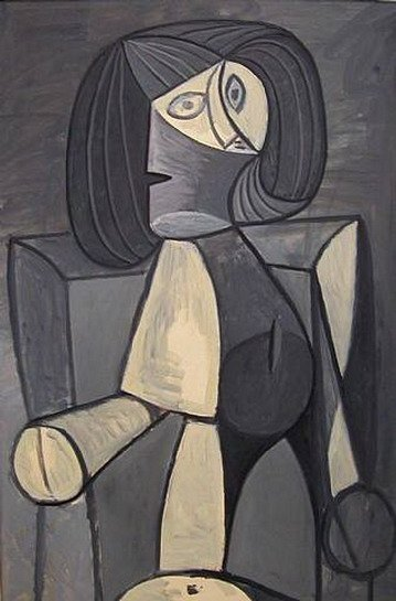 Pablo Picasso: Nő szürkében, pablo-ruiz-picasso.net