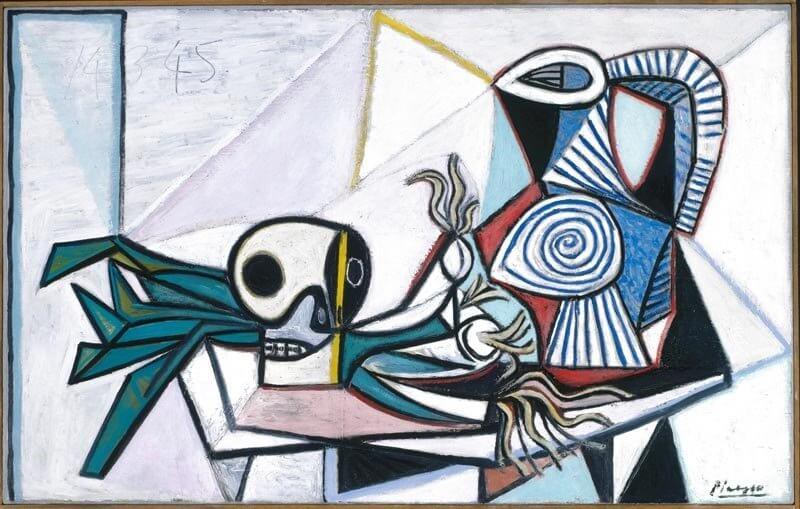 Pablo Picasso: Csendélet póréhagymával és kancsóval, tate.org.uk