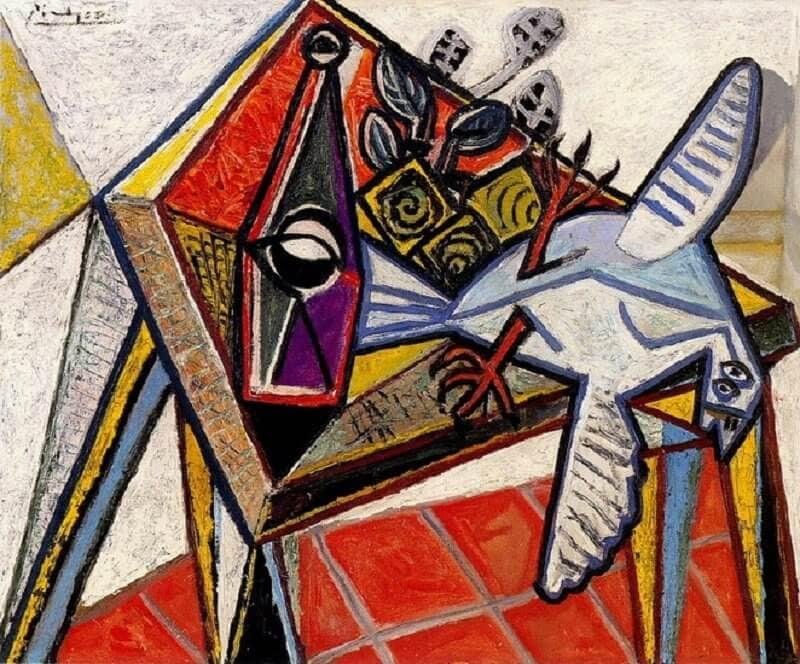 Pablo Picasso: Csendélet galambbal, pablo-ruiz-picasso.net