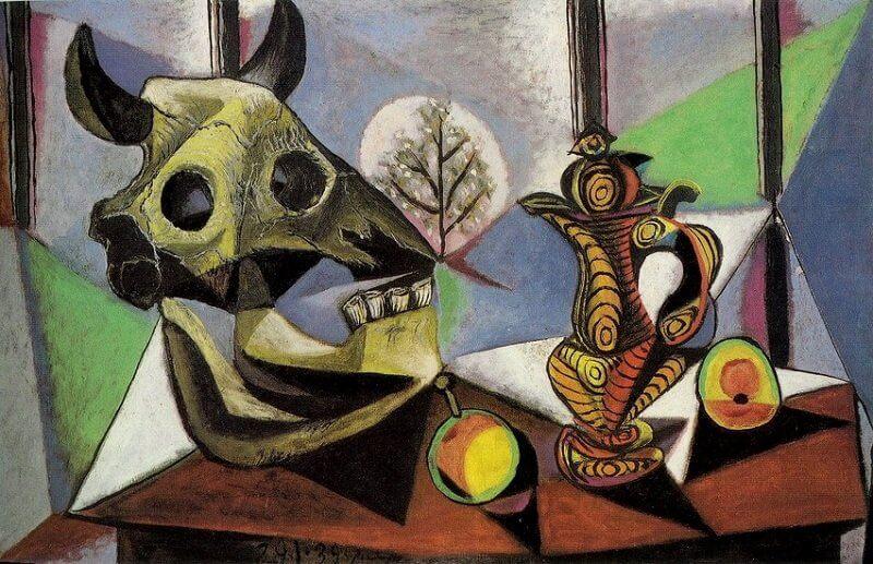 Pablo Picasso: Csendélet bika koponyával, pablo-ruiz-picasso.net
