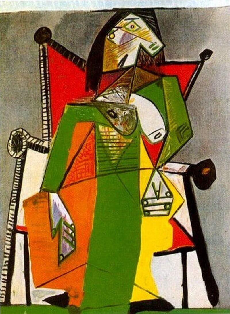 Pablo Picasso: Nő karosszékben, pablo-ruiz-picasso.net