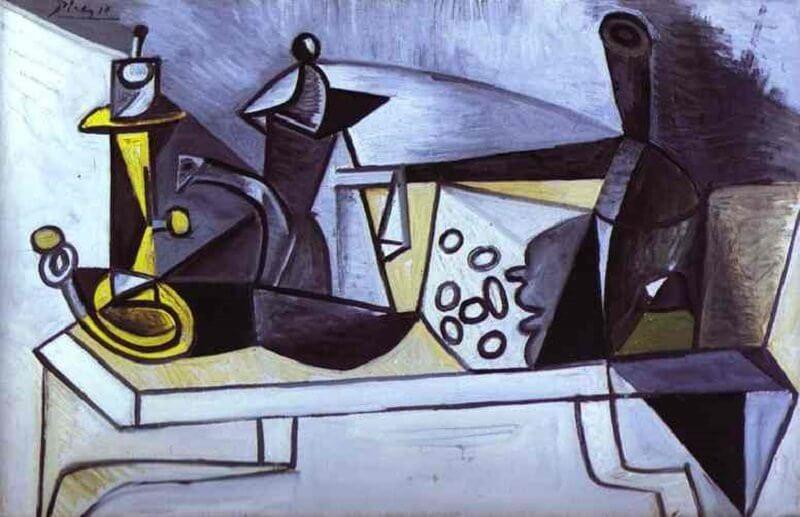 Pablo Picasso: Csendélet sajttal, pablo-ruiz-picasso.net