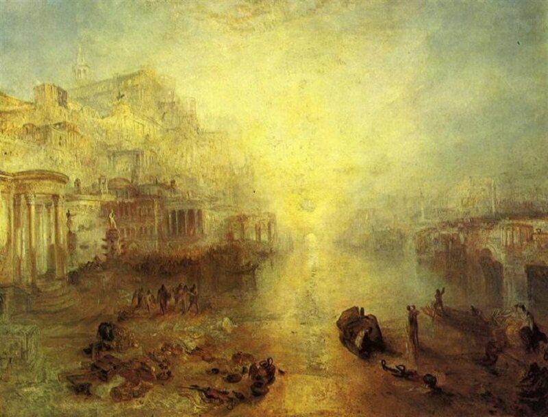 William Turner: Ovidius száműzetése Rómából, wikiart.org