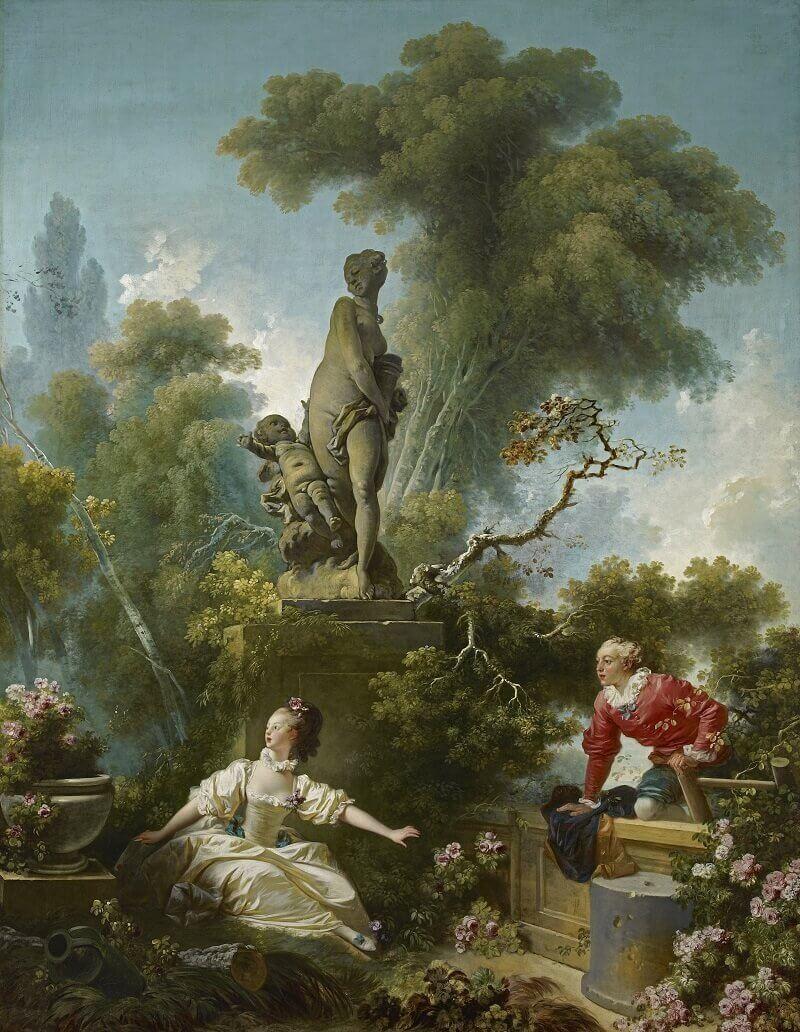 Jean-Honoré Fragonard: A szerelem kibontakozása: a találka, wikipedia.com