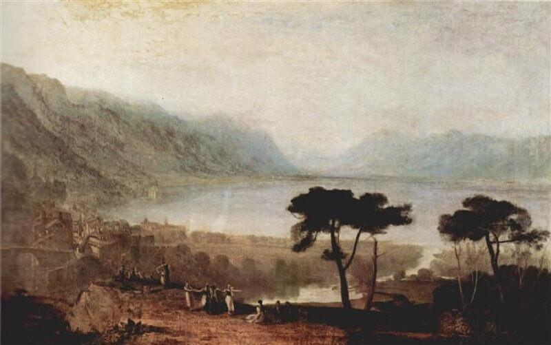 William Turner: A Genfi-tó Montreux felől, wikiart.org