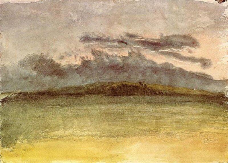 William Turner: Viharfelhők naplementével, wikiart.org