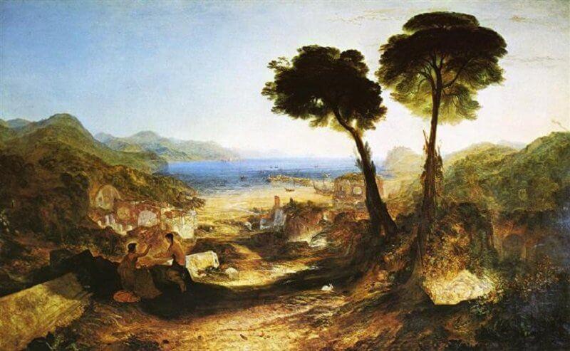 William Turner: Baiae-öböl Apollóval és Szibillával, wikiart.org