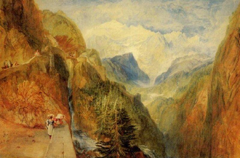 William Turner: Mont Blanc, wikiart.org