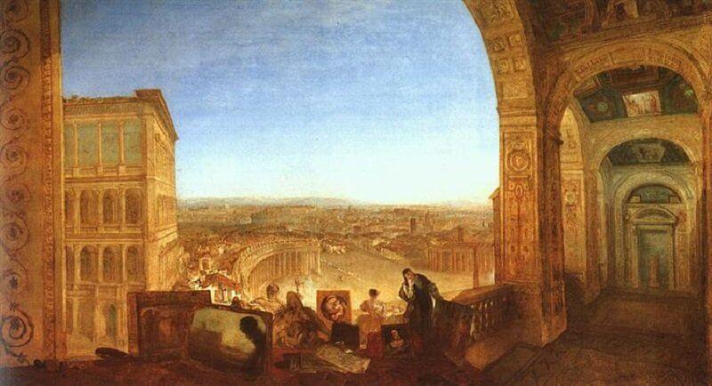 William Turner: Róma a Vatikán felől, wikiart.org