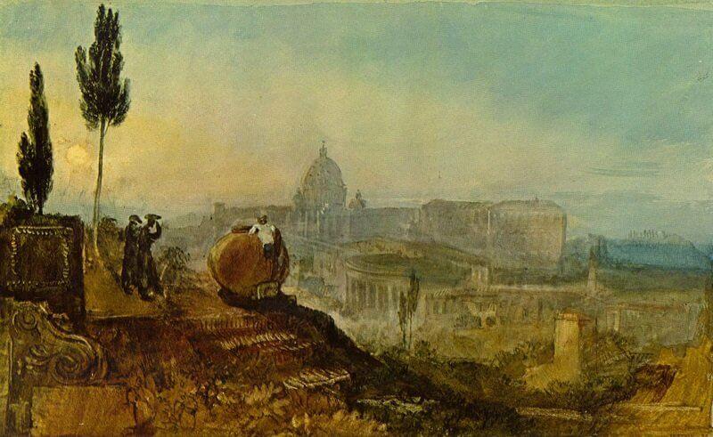 William Turner: Szent Péter tér dél felől, wikiart.org