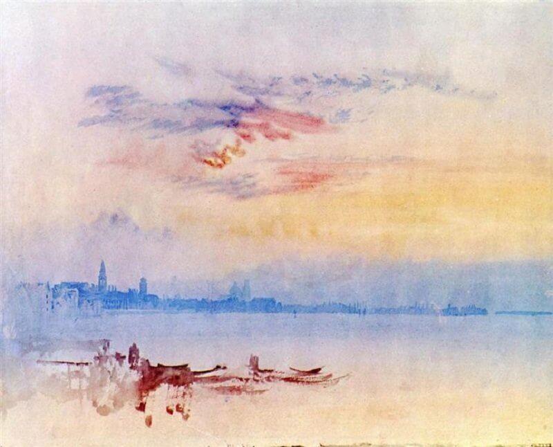 William Turner: Velence a Giudecca felől napfelkeltekor, wikiart.org