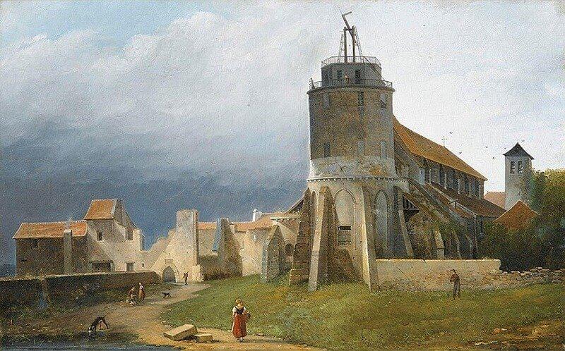 Jacques-Auguste Regnier: A Szent Péter templom látképe (Montmartre, Párizs, members.iif.hu