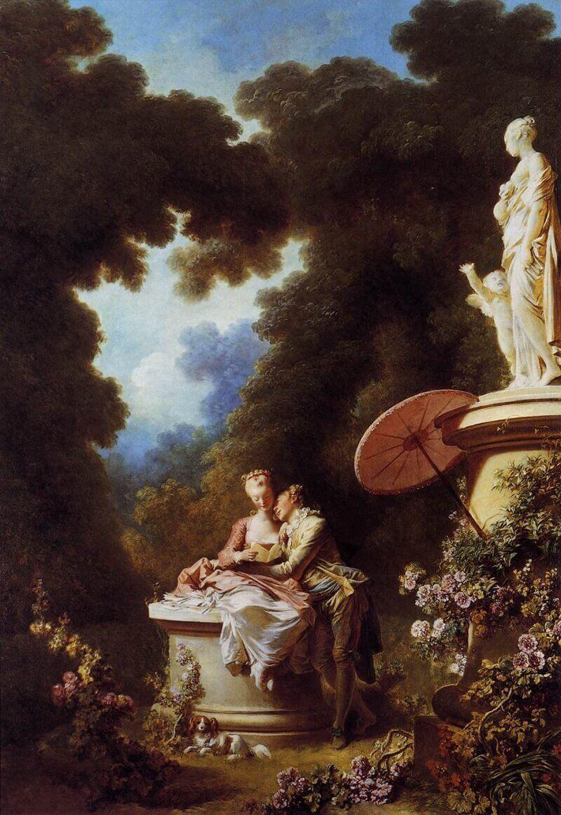 Jean-Honoré Fragonard: Szerelmi vallomás , wikimedia.com