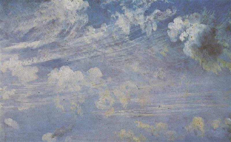 John Constable: Tavaszi felhők tanulmány, wikiart.org