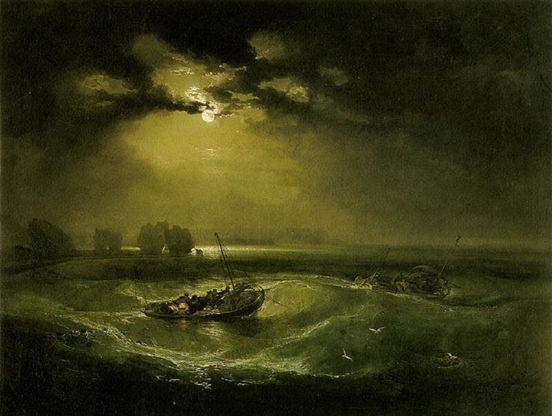 William Turner: Halászok a tengeren, wikiart.org