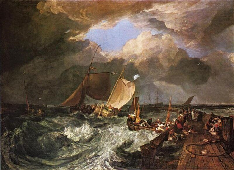 William Turner: A móló Calais-nál, wikiart.org