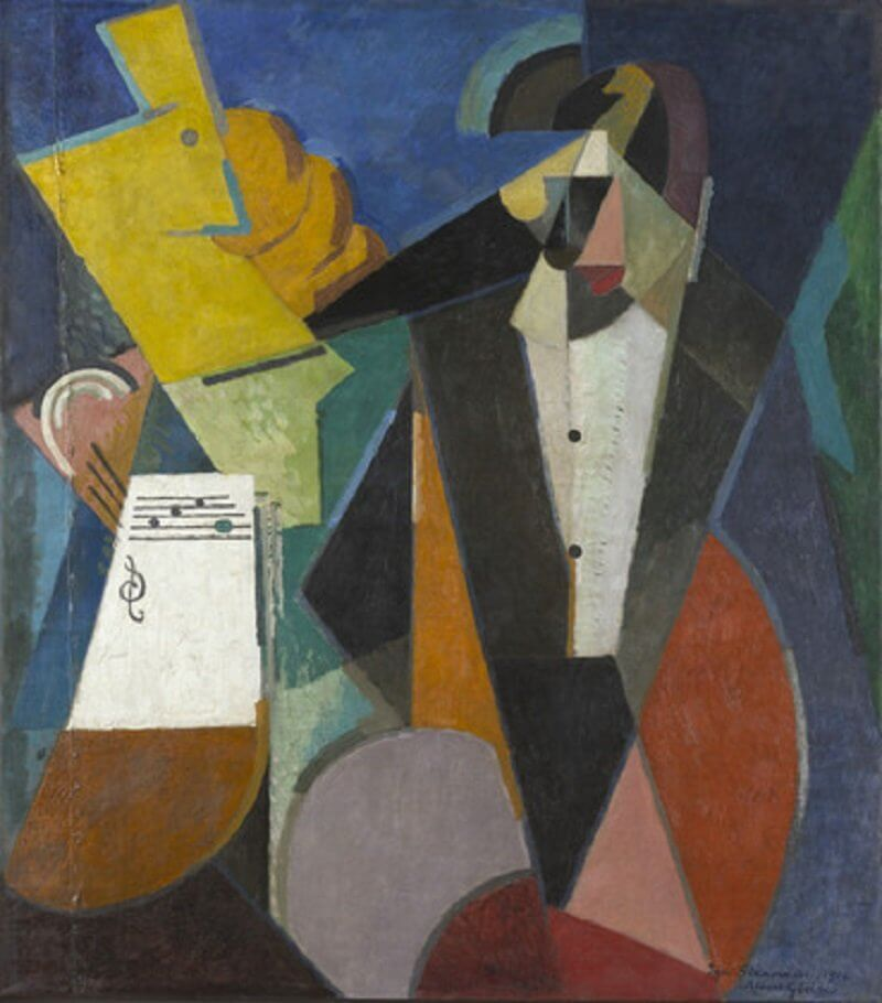 Albert Gleizes: Igor Sztravinszkij portréja, wikiart.org