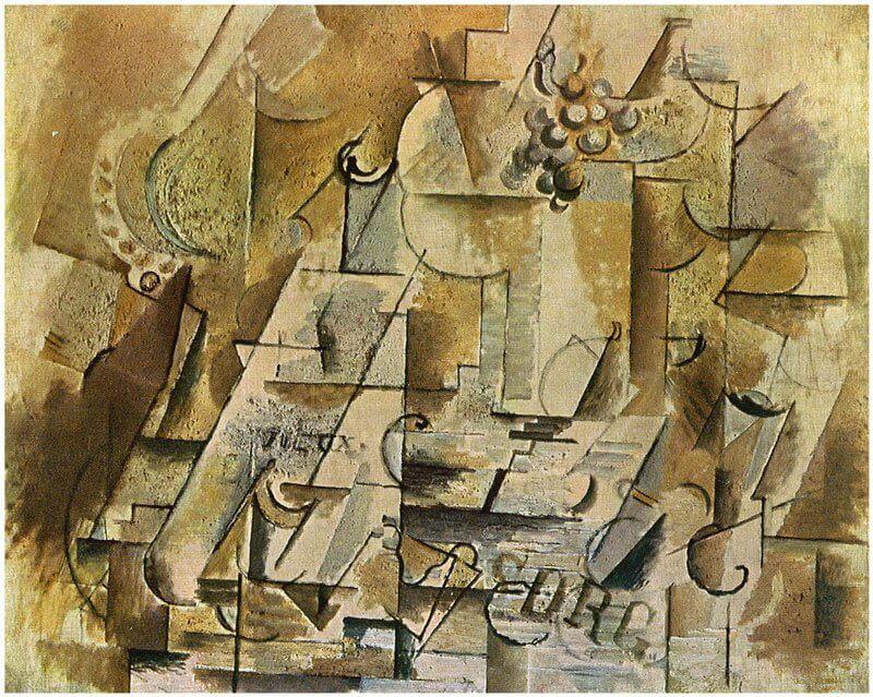 Georges Braque: Csendélet egy fürt szőlővel, wikiart.com