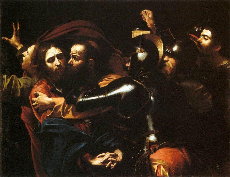Caravaggio: Krisztus elfogatása