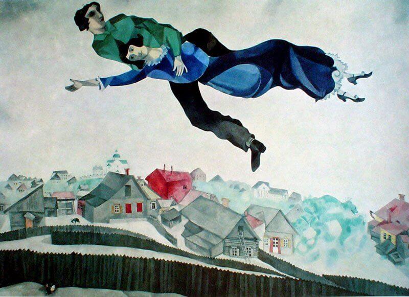 Marc Chagall: Szerelmesek a város felett