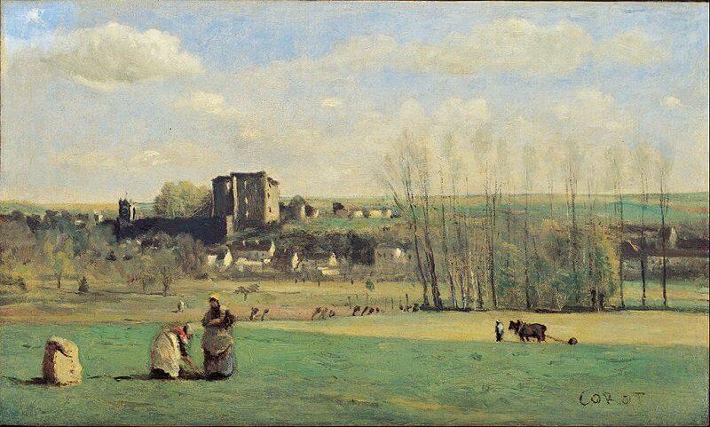Jean-Baptiste-Camille Corot: La Ferté-Milon, commons.wikimedia.org