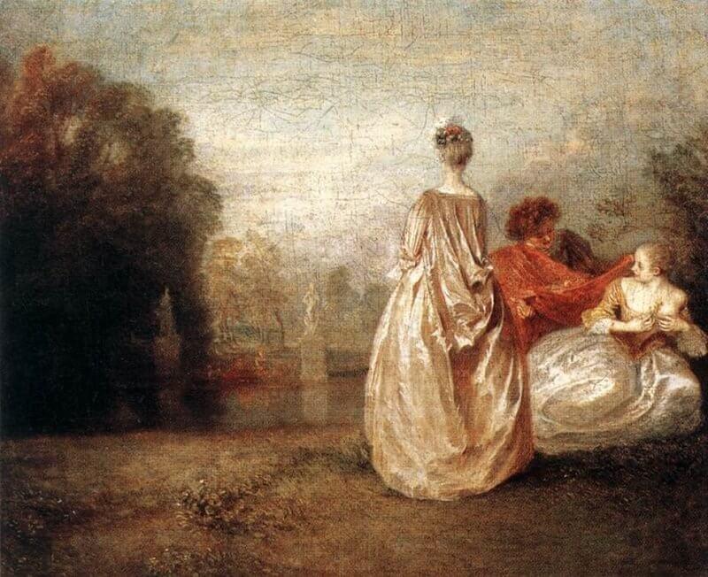 Jean-Antoine Watteau: Két unokatestvér, wga.hu