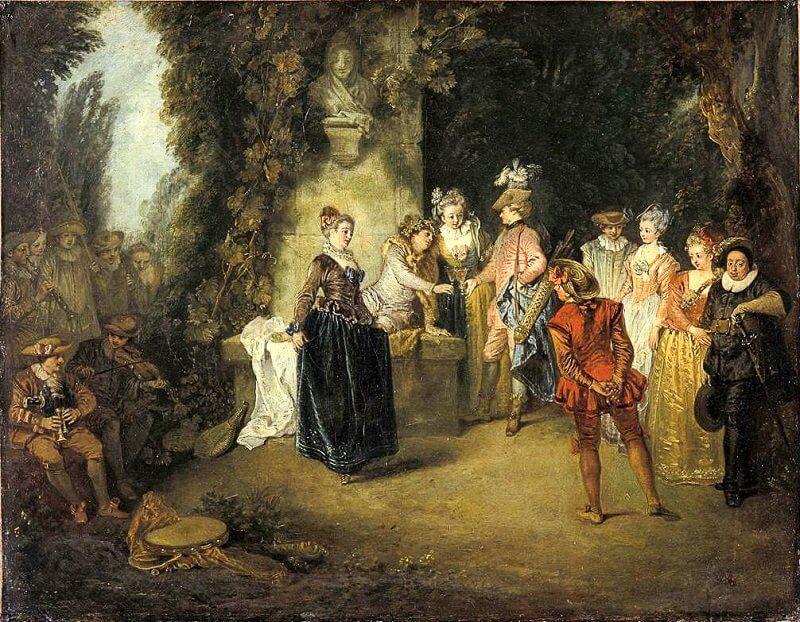 Jean-Antoine Watteau: A francia színház szeretete, watteau-abecedario.org