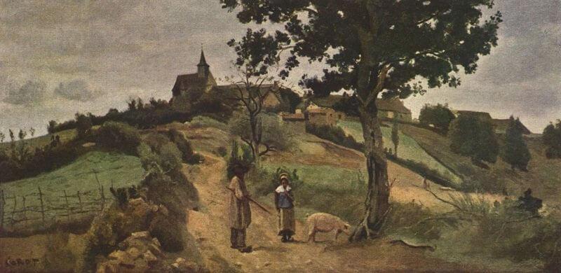 Jean-Baptiste-Camille Corot: Saint-André-en-Morvan, commons.wikimedia.org