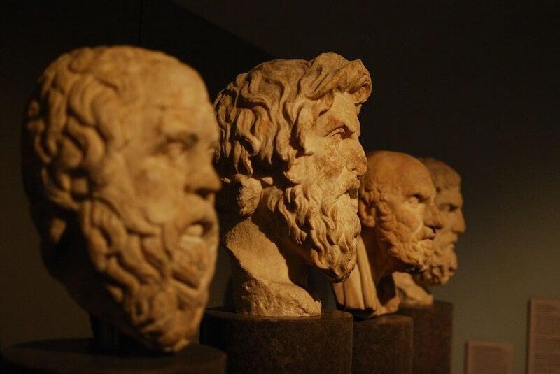 Szókratész. Antiszthenész, Khrüszipposz, Epikurosz, wikimedia commons