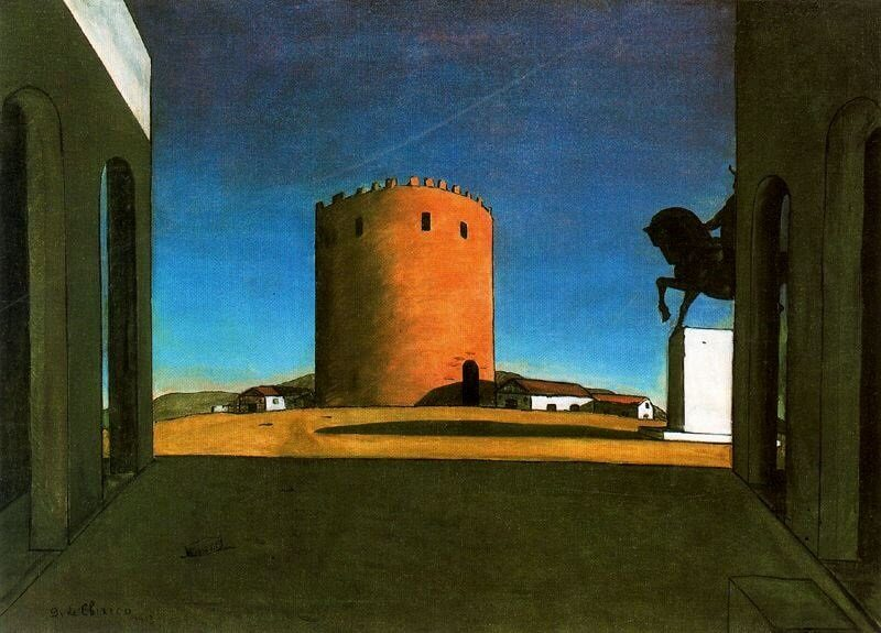 Giorgio De Chirico: A vörös torony